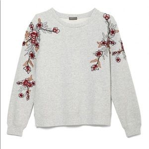 Vince Camuto Floral Embroidered Sweatshirt